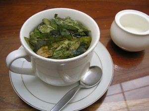 coca tea machu picchu