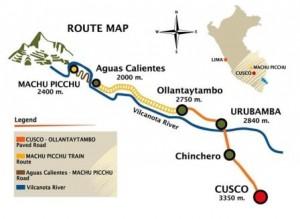map Cusco Machu Picchu MPT